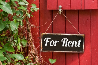 sign for rental home